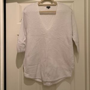 Express white oversized sweater